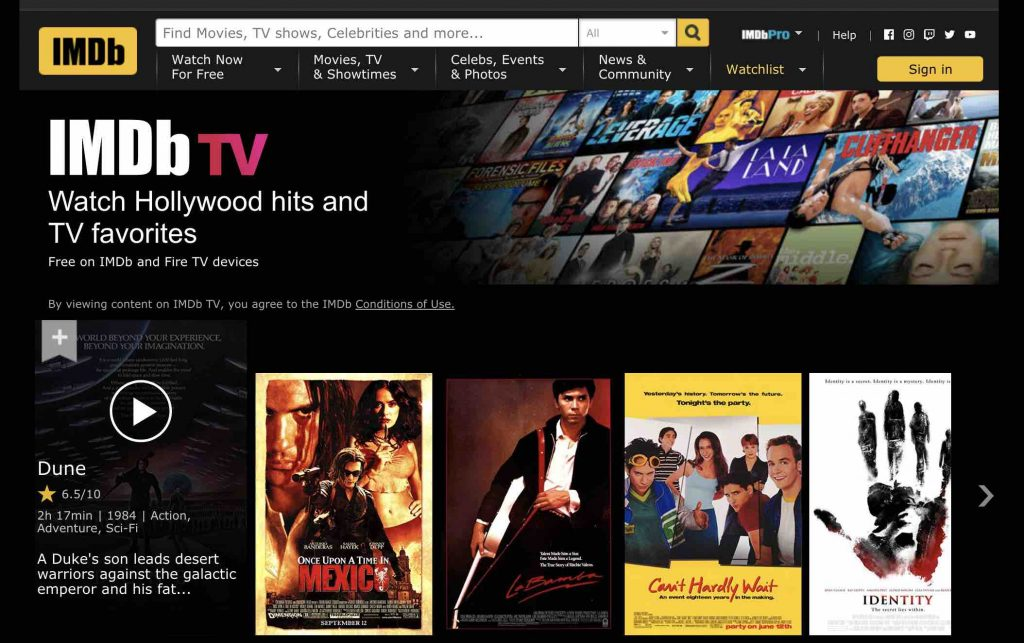 download movies from imdb tv